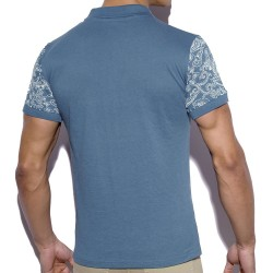Polo Sleeve Printed Cobalt ES Collection