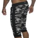 Military Knee Sweat Pants - Black Camo