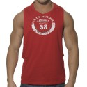 Athletic Low Rider Tank Top - Red