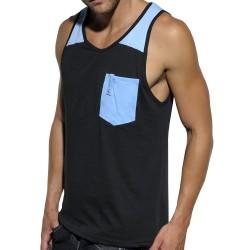 Débardeur Dyed Wash Noir - Bleu ES Collection