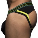 Jock Strap Peek-A-Boo Locker Room Noir - Citron Vert