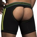 Boxer Empty Bottom Peek-A-Boo Noir - Citron Vert