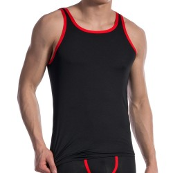Débardeur Carreshirt RED 1604 Noir - Rouge Olaf Benz