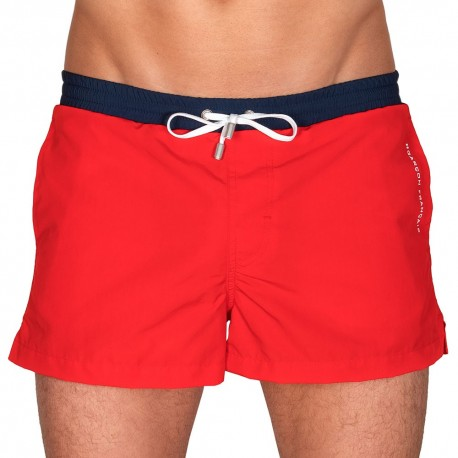 Swim Short - Red - Navy