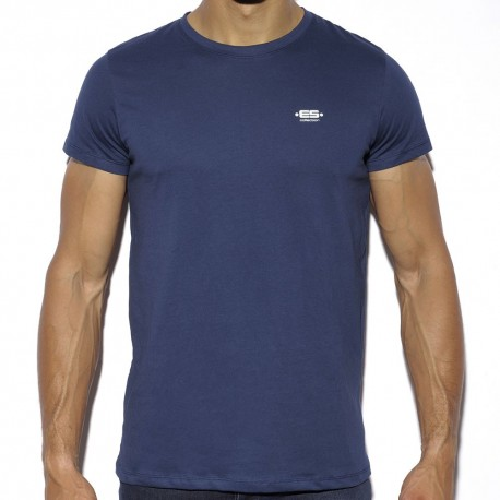 Basic Cotton T-Shirt - Navy