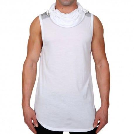 Débardeur Hoody Muscle Elite Blanc