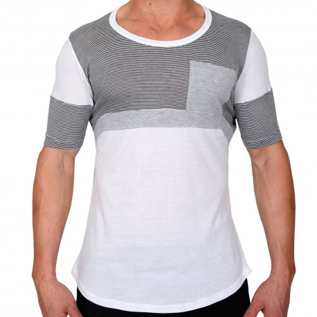 Elite T-Shirt - White - Grey