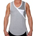 Elite Tank Top - Grey - White