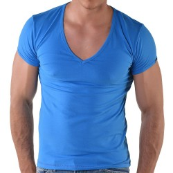 T-Shirt V-Neck Royal Roberto Lucca