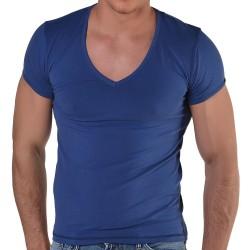 T-Shirt V-Neck Marine Roberto Lucca