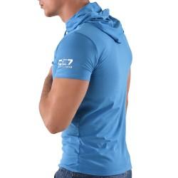 T-Shirt Hoody CC7 Bleu Roberto Lucca