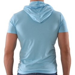 T-Shirt Hoody CC7 Turquoise Roberto Lucca