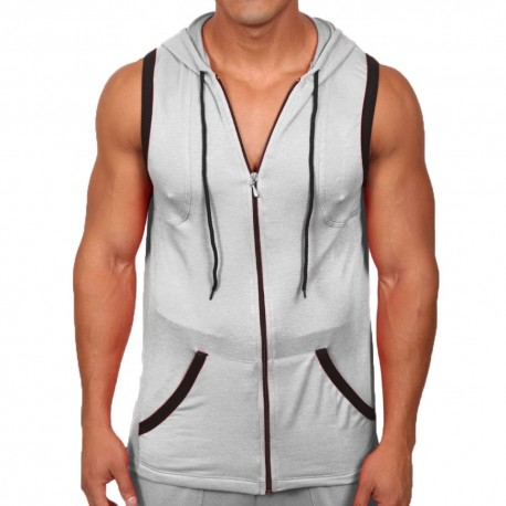 Excel Sleeveless Hoody - Grey