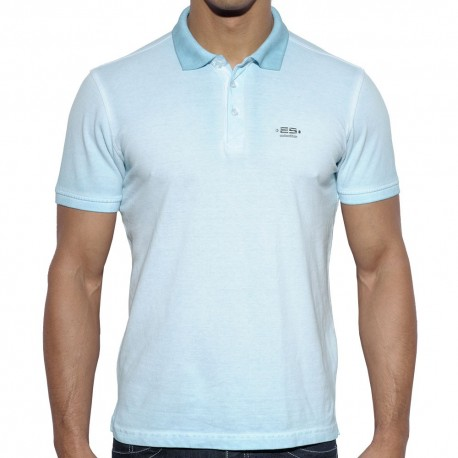 Dyed Polo - Light Blue