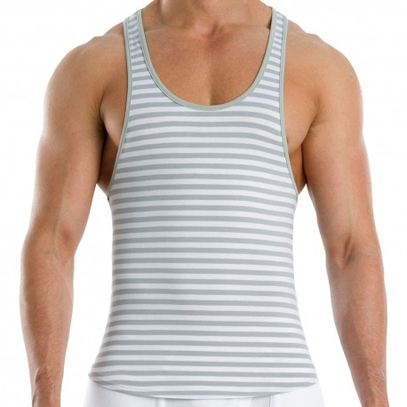 Wide Tank Top - Grey