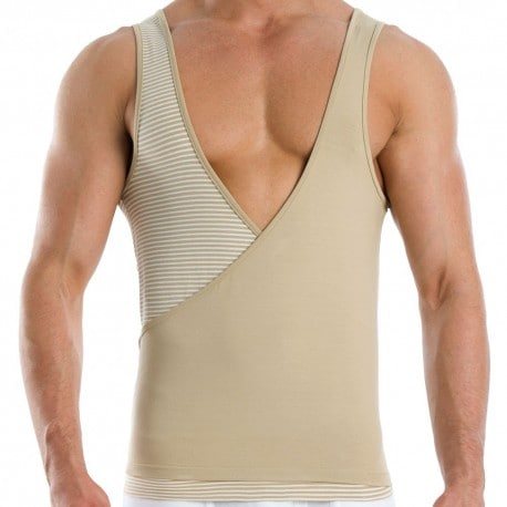 Wide Croise Tank Top - Sand