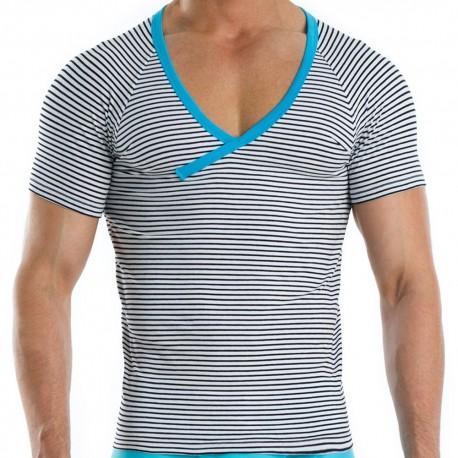 Narrow T-Shirt - Sailor - Turquoise