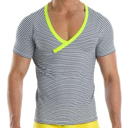 T-Shirt Narrow Marin - Jaune Modus Vivendi