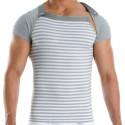 T-Shirt Multi Wide Gris