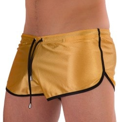 Silvain Shiny Short - Gold - Black Barcode