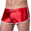 Silvain Shiny Short - Red - White