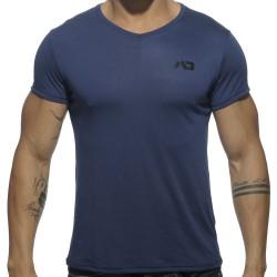 T-Shirt V-Neck Basic Marine Addicted