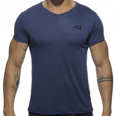 T-Shirt V-Neck Basic Marine
