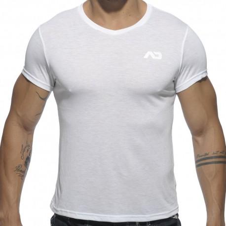 Basic V-Neck T-Shirt - White