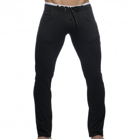 Combined Waistband Pants - Black