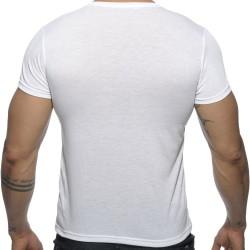 T-Shirt V-Neck Basic Blanc Addicted