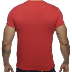 T-Shirt V-Neck Basic Rouge Addicted
