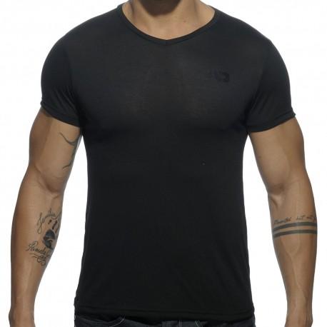 T-Shirt V-Neck Basic Noir