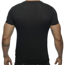 T-Shirt V-Neck Basic Noir Addicted