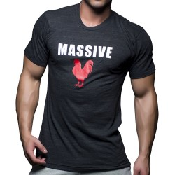 T-Shirt Massive Cock Anthracite Andrew Christian