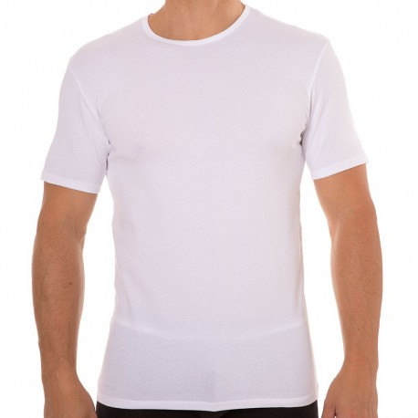 2-Pack Dry & Cool Round Neck T-Shirts - White - Black