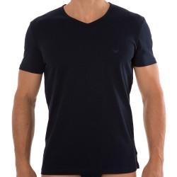 Lot de 2 T-Shirts V-Neck Pure Cotton Marine - Gris Emporio Armani