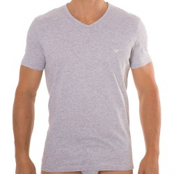 Lot de 2 T-Shirts V-Neck Pure Cotton Marine - Gris Emporio Armani