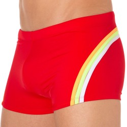 Shorty de Bain Lycra Rainbow Rouge Sundek