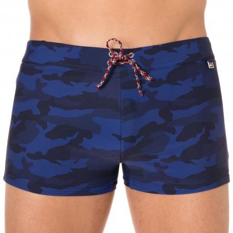 Boxer de Bain Camouflage Marine