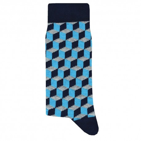 Cubic Socks - Navy