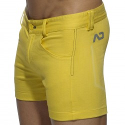 Short Print Mesh Pocket Jaune Addicted