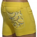 Print Mesh Pocket Short - Yellow