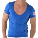 T-Shirt V-Neck Royaume Uni Bleu