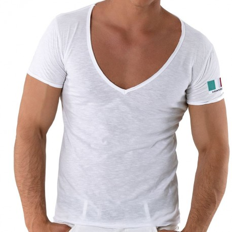 V-Neck T-Shirt - Italy White