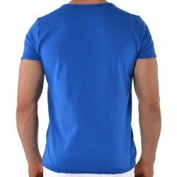 T-Shirt V-Neck Royaume Uni Bleu Roberto Lucca