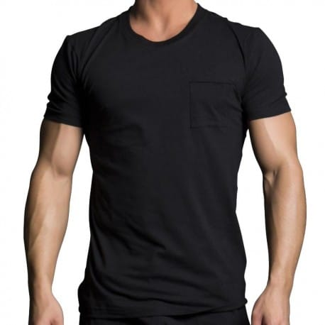 Black Collection Luxe Pocket T-Shirt - Black