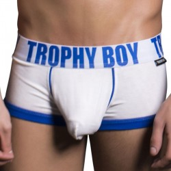 Boxer Trophy Boy Tagless Blanc Andrew Christian