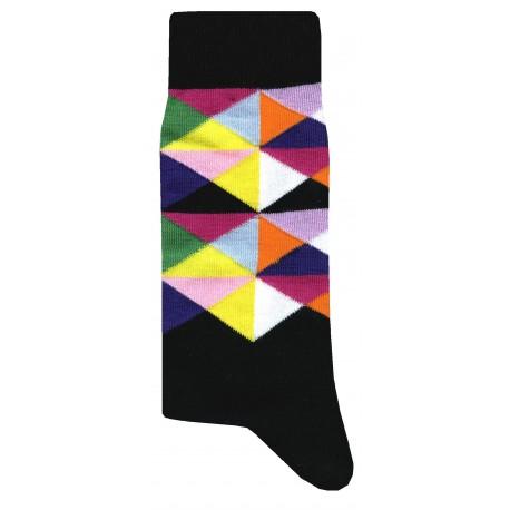 Mosaiq Socks - Noir