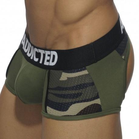 Boxer Bottomless Combi Mesh Kaki - Camouflage