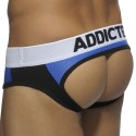 Combi Mesh Bottomless Brief - Black - Blue